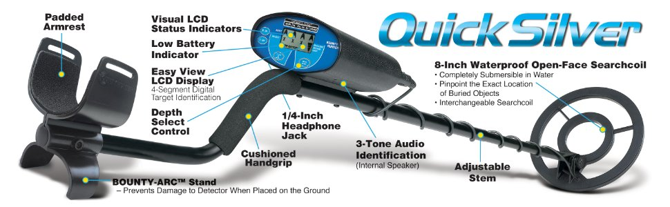 Bounty Hunter Quicksilver Youth Detector Features